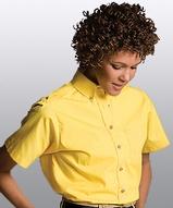 Women's Button Down Poplin Shirt SS Main Image