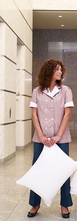 Women's Double Breasted Lapel Tunic Work Uniform Main Image