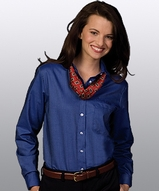Women's Dress Button Down Oxford LS Main Image