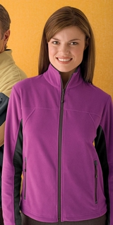 Women's Full Zip Microfleece Jacket with MP3 Pocket Main Image