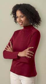 Women's Interlock Mock Neck Long Sleeve Shirt Main Image