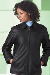 Women's Leather Mid-length Jacket Main Image