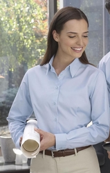 Women's Long Sleeve Twill Dress Shirt Main Image