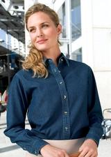Women's Long Sleeve Value Denim Shirt Main Image