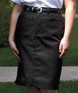 Women's Medium Length Chino Skirt Main Image
