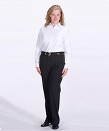 Women's Misses And Poly / Wool Plain Front Pant Main Image