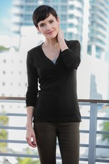 Women's Modern Stretch Cotton Cardigan Main Image