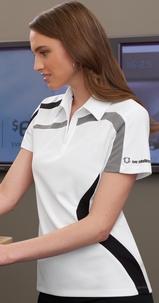 Women's Performance Polyester Pique Color-block Polo Main Image