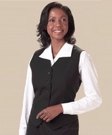 Women's Poly / Wool High Button Vest Main Image