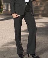 Women's Poly / Wool Pinstripe Flat Front Pant Main Image
