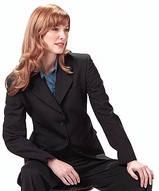 Women's Poly / Wool Pinstripe Suit Coat Main Image