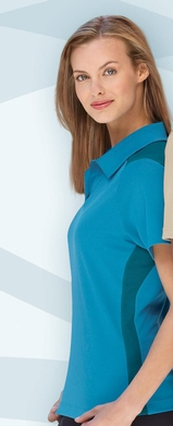 Women's Polyester And Bamboo Two-tone Jacquard Polo Shirt Main Image
