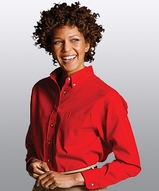 Women's Poplin Shirt LS Main Image
