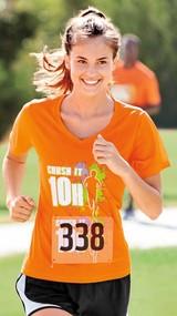 Women's Racermesh V-neck Tee Main Image