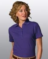 Women's Short Sleeve Blended Pique Polo Main Image