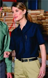Women's Short Sleeve Industrial Work Shirt Main Image