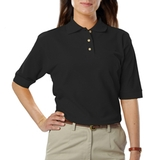 Women's Short Sleeve Teflon Treated Pique Polos Main Image