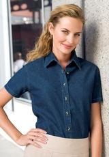 Women's Short Sleeve Value Denim Shirt Main Image