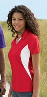 Women's Side Blocked Micropique Polo Shirt Main Image