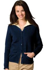 Women's V-neck Two Pocket Cardigan Main Image
